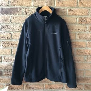COLUMBIA | Black fleece zip up fall winter sweater